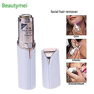 Mini Women's Facial Painless Hair Remover Women Hair Removal Skin Soft Electric Lipstick Shape Light Hair Removal Tool