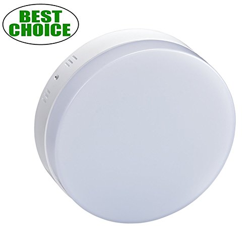 W-lite Surface Mount Round Led Ceiling Light 12W 960LM Flushmount Panel Lighting Super Bright Downlight for Kitchen Dining-room Closet Study Bathroom-6000K(Daylight White) Led Round Wall