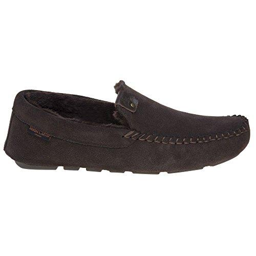 Pantofole Da Uomo Simon Carter Hound Marrone Marrone