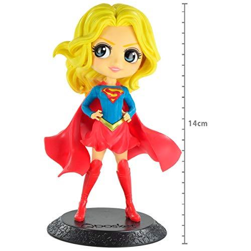 Dc Comics Q Posket- Supergirl - (mod B) Ref. 29327/29328 Bandai Banpresto Cores Diversas, Feita Com Pintura Aerográfica
