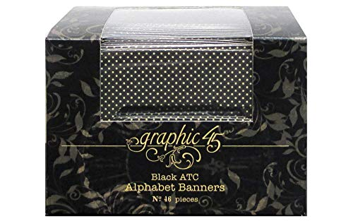 Graphic 45 Alpha Banner-ATC Black,