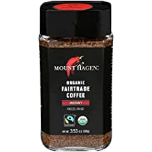Mount Hagen Organic Freeze Dried Instant Coffee, 3.53-Ounce Jars (Pack of 6)