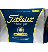 Titleist NXT Tour S Yellow Golf Balls - 1 Dozen