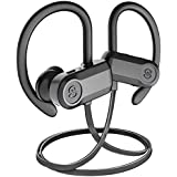 [Upgraded] Bluetooth Headphones, SoundPEATS Sports Wireless Earbuds, IPX7 Sweatproof Headphones with Mic, Richer Bass HiFi Stereo in-Ear Earphones, 10 Hours Playtime Noise Cancelling Headsets