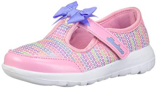Skechers Kids Girls' GO Walk Joy-Sugary Sweet Sneaker, Pink/Multi, 10 Medium US Toddler