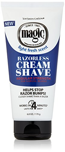 - SoftSheen Carson Magic Regular Razorless Cream Shave 6 Oz (Pack of 6)