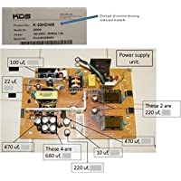 Repair Kit, KDS K-22MDWB, LCD Monitor, Capacitors, Not the Entire Board