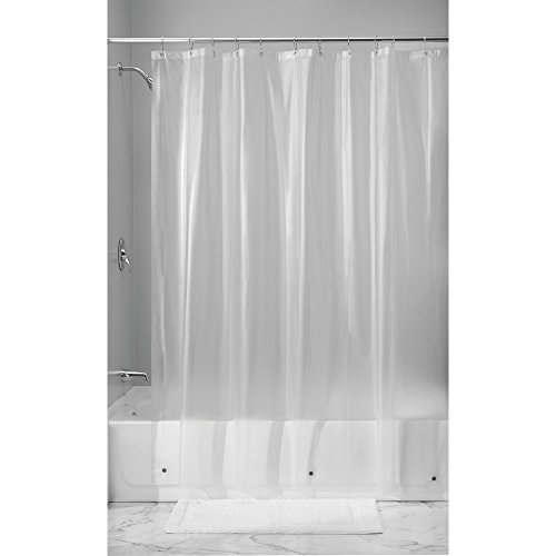 InterDesign Vinyl 4.8 Gauge Shower Curtain Liner - Long 72'' x 84'', Frost by InterDesign