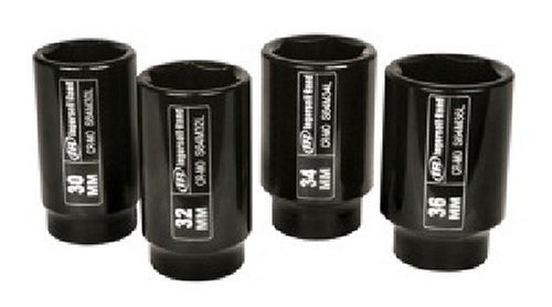 34 Piece Car Tool Kit (Ingersoll Rand SK4M4L 1/2-Inch 4 Piece Deep Metric Axle Nut Kit Impact Socket Set)