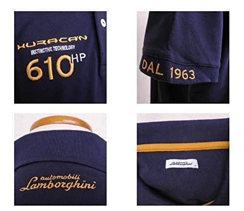 Navy POLOSHIRT Automobili Lamborghini Sportscar Le Mans HURACAN Polo NEW