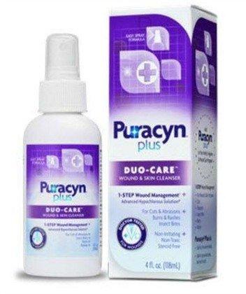 (2 Pack) Puracyn Plus Duo-Care Wound & Skin Solution, OTC Easy Spray, 4 0z each by Puracyn by Puracyn