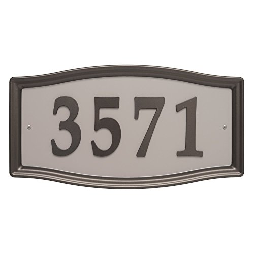 Whitehall Products Easy Street Address Sign Plaque, Bronze ()
