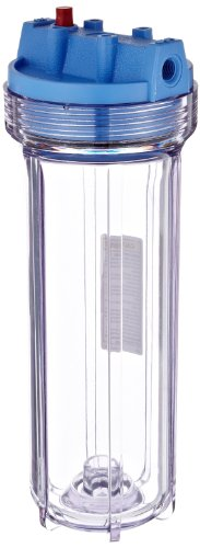 "Pentek 158117 1/4"" #10 Slim Line Clear Filter Housing"