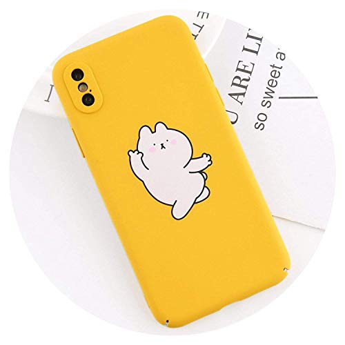 Flak Mariners Jacket (Phone Case for iPhone X 8 7 6 6s Plus Funy Animal Rabbit Lemon Yellow Cartoon Hard PC Back Cover Cases for iPhone X Capa Bear for iPhone 7 Plus,Bear,ForiPhone66s)