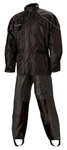 Nelson Rigg Unisex Adult AS-3000-BLK-05-XXL Aston Motorcycle Rain Suit 2-Piece, (Black, XX-Large), X