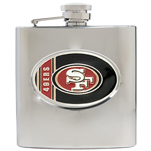 San Francisco 49ers Hip Flask with Oval Emblem