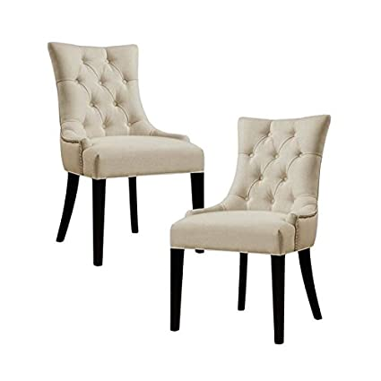 Amazon Com Home Square Set Of 2 Accent Chairs In Beige Kitchen