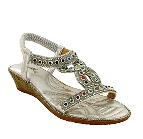 Dorado New Back Strictly Party Sling Open Sandal Toe Ladies vqwqfAxO