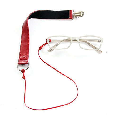 Eyecatcher Travel Accessories Eyewear Holder and Retainer for Sunglasses and Eyeglasses in Color Rude Red