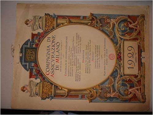 Calendario 1929.Amazon It Calendario Della Compagnia Di Assicurazione Di