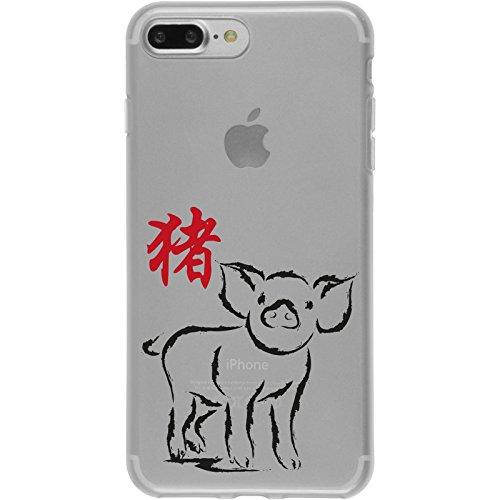 PhoneNatic Apple iPhone 7 Plus Coque en Silicone Chinese Zodiac Motif 12 Case iPhone 7 Plus + films de protection
