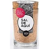 SAL DE AQUÍ - Flor de Sal con Gusano de Maguey - Frasco de 200 g (7.5oz) - Ideal para Mezcal y sazonar alimentos - Contiene 3