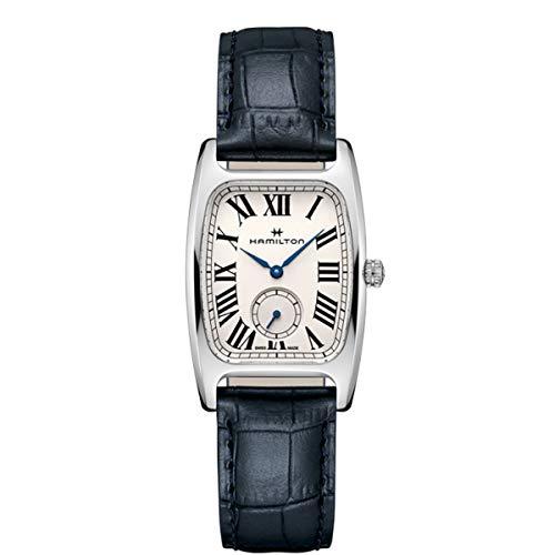 Hamilton Boulton L Silver-White Dial Ladies Leather Watch H13421611