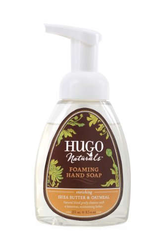 Hugo Naturals Foaming Hand Soap, Shea Butter and Oatmeal, 8.5 Ounce Pump Bottle