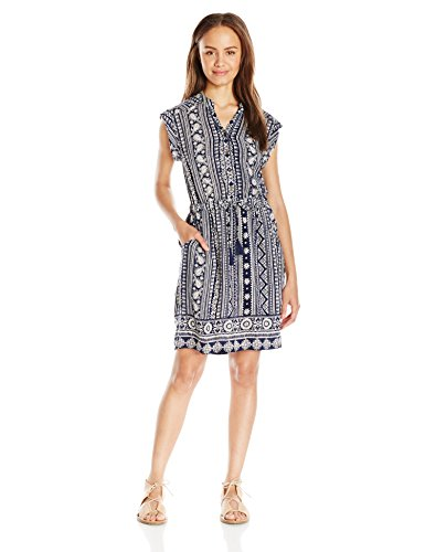 dc9cd4dc9f6 Angie Women s Navy Printed Shirt Dress