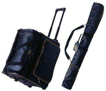 【剣道具 防具袋+竹刀袋セット】冠ウイニングバッグ + 冠ウイニング竹刀ケース B01M6WAN47 ブラック×ゴールド