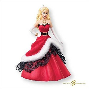 Barbie 2007 Hallmark Ornament Celebration Inspired Holiday Doll # 8 Special 2007 Edition