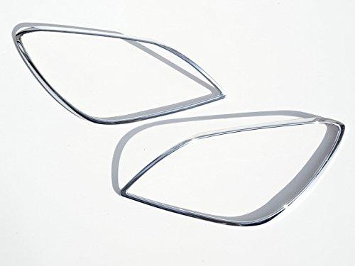 メルセデスベンツ SLKクラス R172  SLK200 SLK250 SLK350 SLK55 等 (2011年~) クロームメッキ ヘッドライト ランプ リング リム ガーニッシュ B01N549CNP