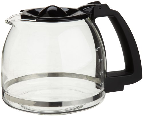10 Cup Coffee Carafe - Capresso 4464.01 10-Cup Glass Carafe with Lid for CoffeeTeam GS Coffee Maker