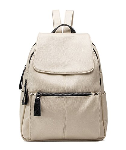 Shoulder Women's Off Leather Show White Backpack Sheepskin Bags Yan xTzIH4wqq
