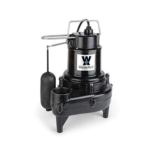 (WaterAce WA50SASW Sewage Pump Black)