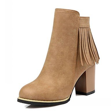 Wedding Dress amp;Amp; Leatherette Career EU36 Party CN36 Platform Comfort Novelty Boots Women'S amp;Amp; Evening RTRY UK4 Office Fall Winter Patent Spring Casual Leather US6 4P1OZw