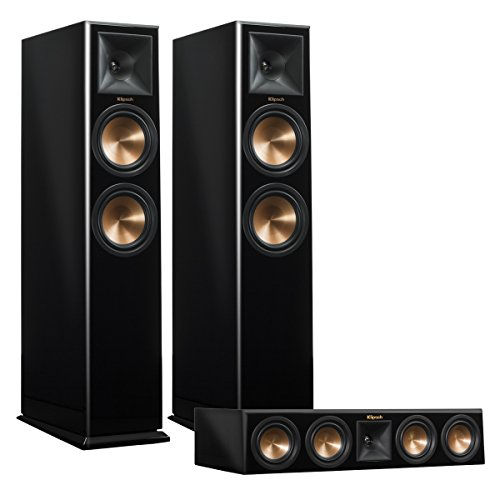 Klipsch RP-260F Reference Premiere Floorstanding Speaker Pair with RP-440C Center Channel Speaker (Piano Black)