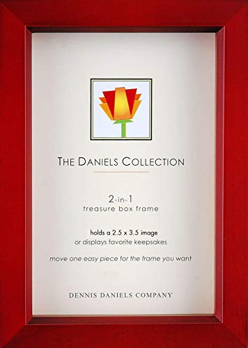 Dennis Daniels Wood Treasure Box Picture Frame, 2.5 x 3.5 Inches, Rosewood]()