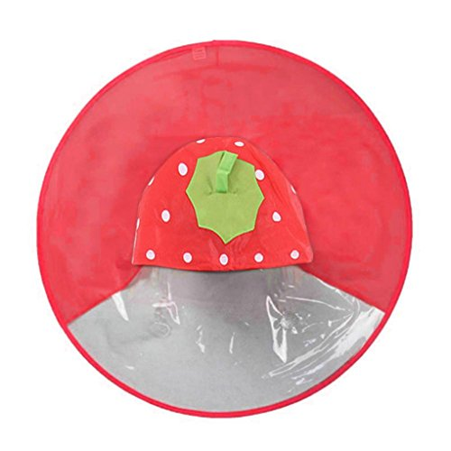 Tpingfe Cute Rain Coat, Adorable Novelty Foldable UFO Rainco