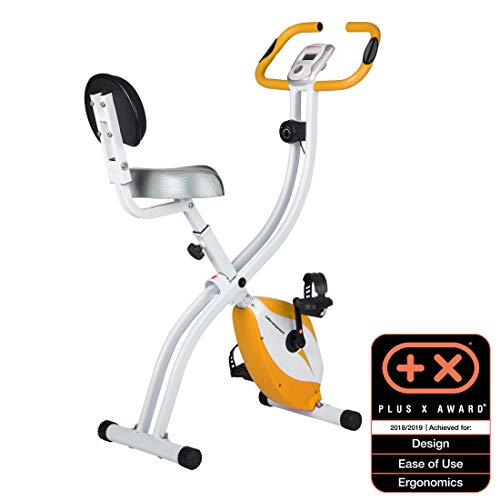 Ultrasport F-Bike Home Trainer 150/200B with hand pulse sensors, with/without backrest, foldable