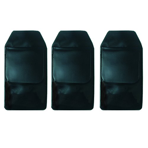 DE 6 Pcs Black Vinyl Pocket Protector for Pen Leaks by Digital Energy (Image #3)