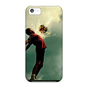 Durable Case For The Iphone 5c- Eco-friendly Retail Packaging(fireball)
