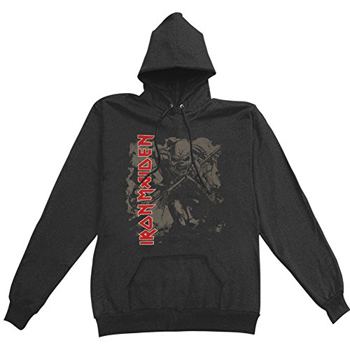 Iron Maiden - Iron Maiden Womens Hoodie: Trooper - Black - X-Large