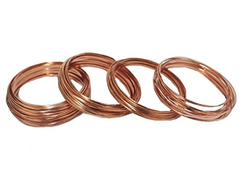 Modern Findings Assorted Half Round Copper Wire (Dead Soft) (10 Gauge Half Round Wire)