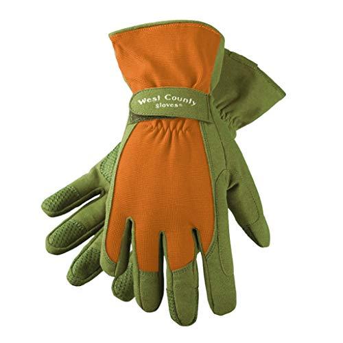 (Ly-yygj Gardening, Gardening, Flowering, Special Gloves, stab-Proof, Rose, Rose, Cut-Proof, wear-Resistant (Color : Orange, Size : M))