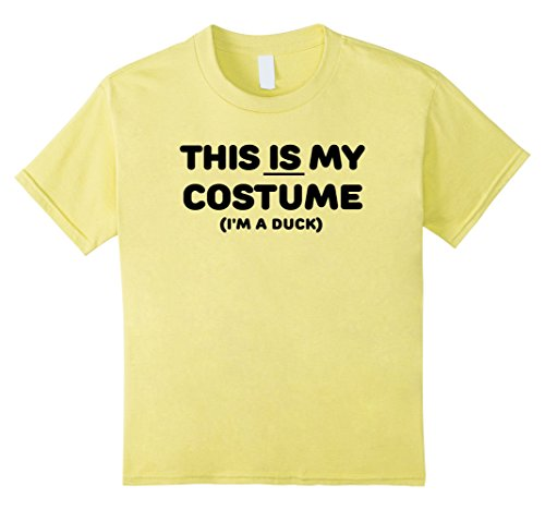 Kids THIS IS MY COSTUME: DUCK Simple Halloween Costume T-Shirt 10 Lemon (Simple Cool Costumes)