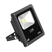 LE 10W Super Bright Outdoor LED Flood Lights, 100W Halogen Bulb Equivalent, Warm White, Security Lights, Floodlight