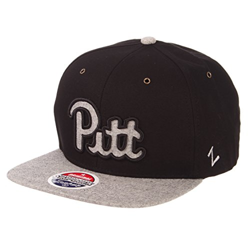 (Zephyr NCAA Pittsburgh Panthers Men's Boss Snapback Hat, Adjustable, Black/Grey )