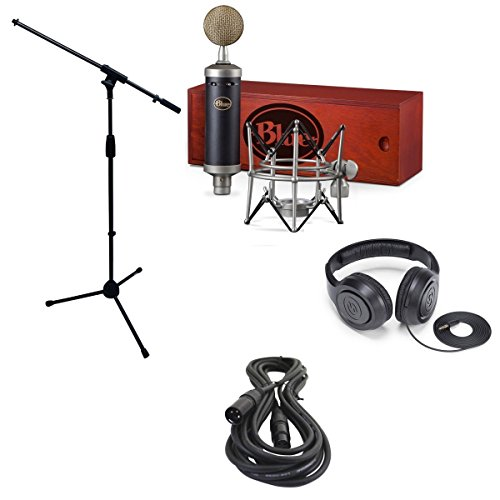 Blue Baby Bottle SL Microphone Bundle with Mic Boom Stand, XLR Cable and Studio Headphones