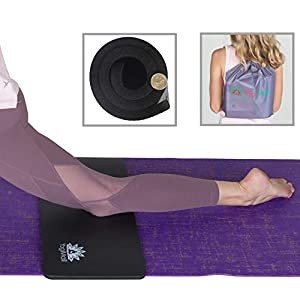 YogiMall Yoga Knee Pad Cushion & Carry Bag 2-in-1 Yoga Set – Provides Extra Padding for Knees, Wrists and Elbows…